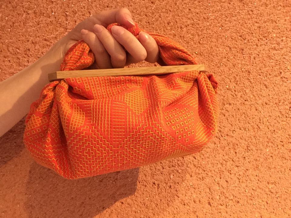 オレンジ×黄糸