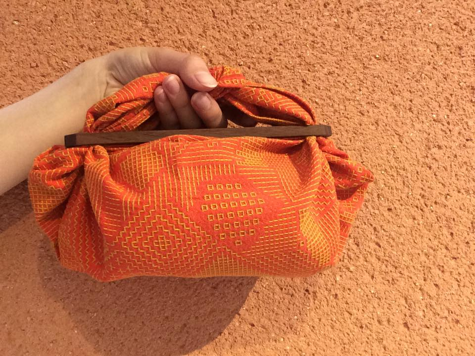 オレンジ×黄糸walnut