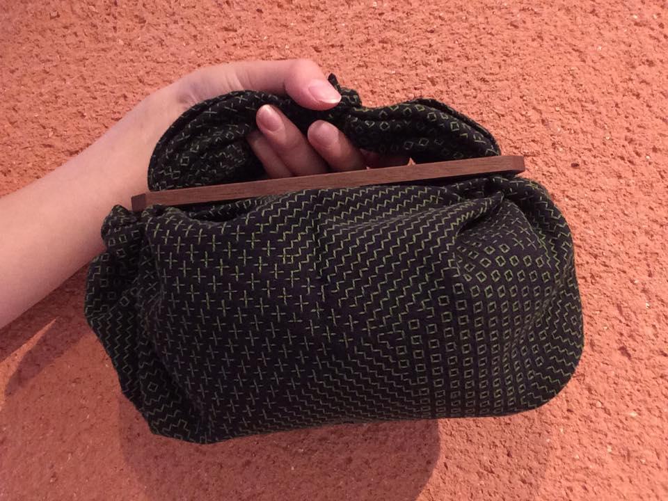 黒×緑糸walnut
