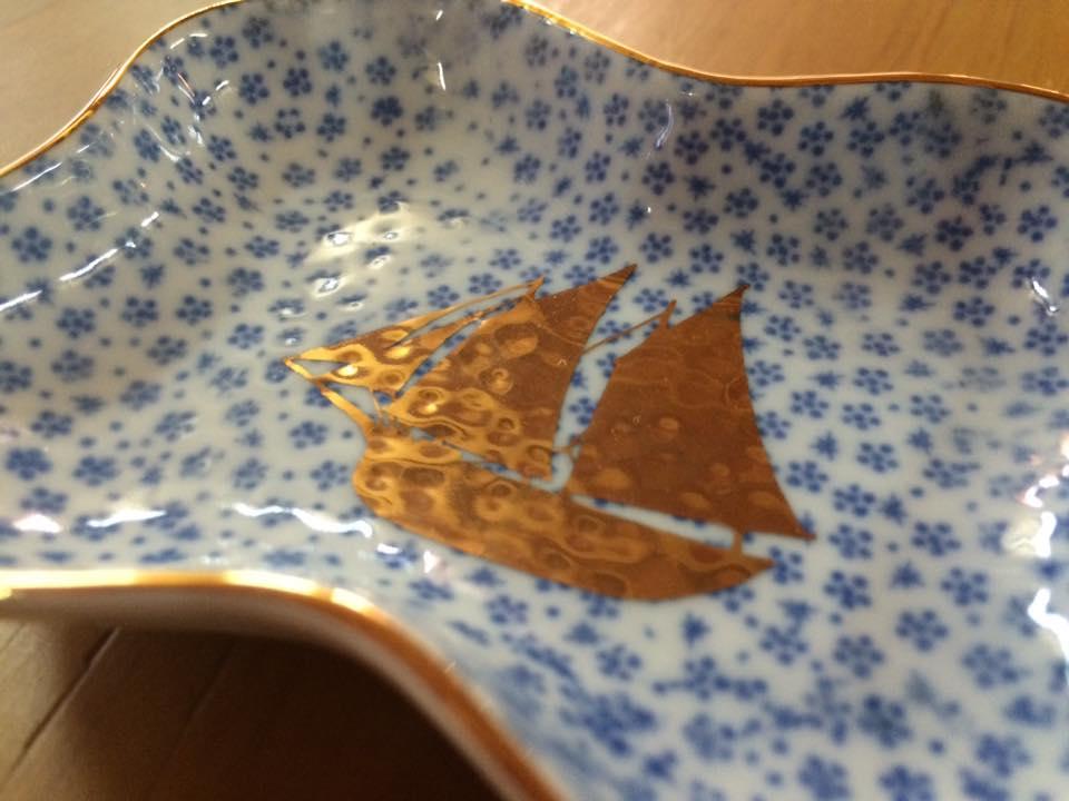 MAME 小紋糸巻形皿2