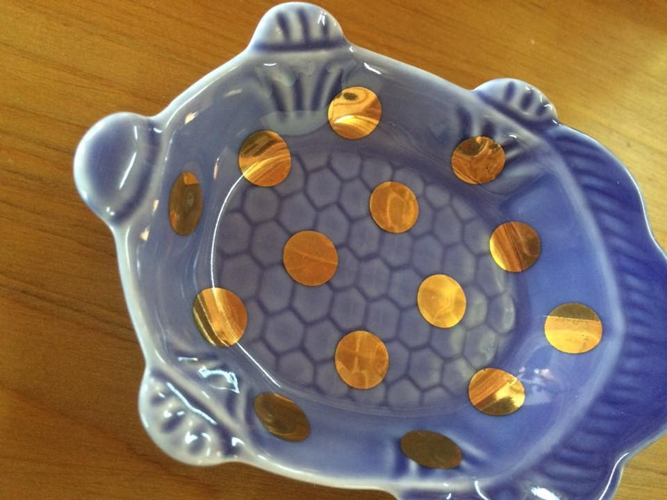 MAME 瑠璃釉亀形皿2