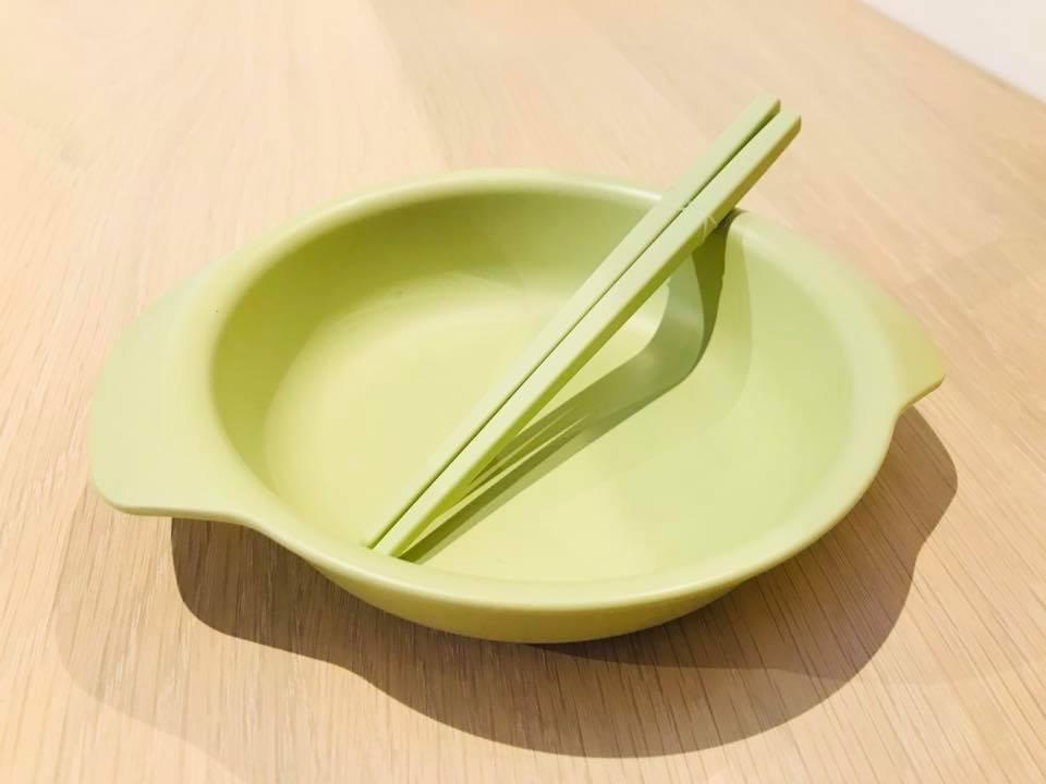 小皿箸リーフグリーン